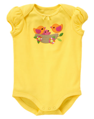 Baby Yellow Bird Nest Bodysuit by Gymboree