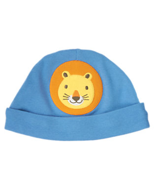 Baby Blue Lion Beanie by Gymboree