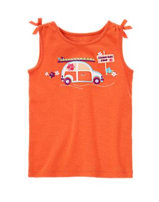 Tangerine Orange Gem Surfer Car Tank by Gymboree