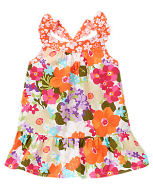 Girls Tropical Flower Tropical Flower Mixed Print Ruffle Tank by Gymboree