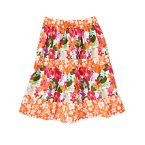 Tropical Flower Mixed Print Tiered Skirt