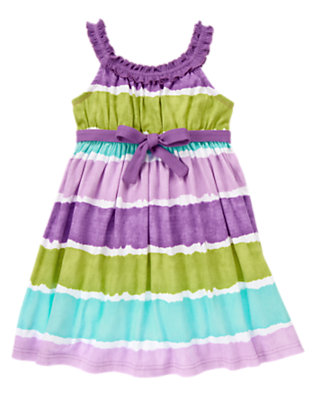 Girls Purple Orchid Belted Dip-Dye Sundress by Gymboree