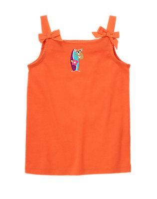 Tangerine Orange Bow Strap Koala Surfboard Tank by Gymboree