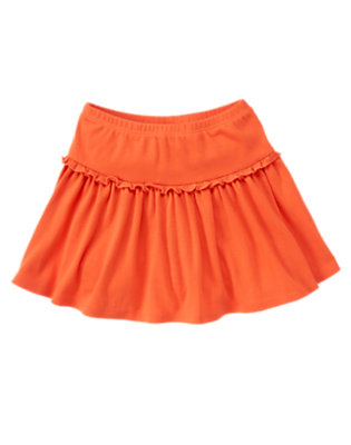 Girls Tangerine Orange Ruffle Skort by Gymboree
