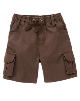 Toddler Boys Chocolate Brown Pull-On Ripstop Cargo Short by Gymboree