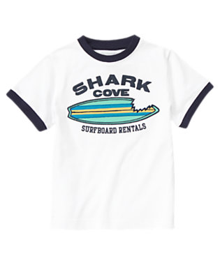 White Shark Cove Surfboard Tee by Gymboree