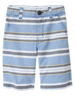 Boys Light Blue Stripe Sunwashed Stripe Short by Gymboree
