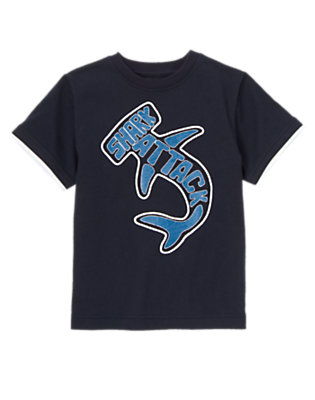Deep Navy Hammerhead Shark Attack Tee by Gymboree