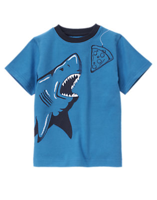 Ocean Blue Pizza Shark Tee by Gymboree
