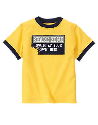 Sunny Yellow Shark Zone Tee by Gymboree