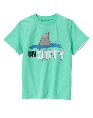 Aqua Green On Duty Shark Tee by Gymboree