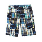 Shark Plaid Patchwork Short