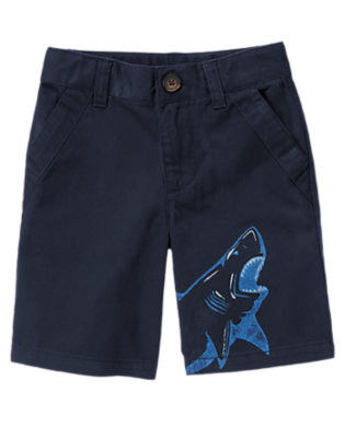 Boys Deep Navy Shark Short by Gymboree