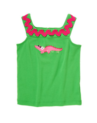 Pond Green Ric Rac Crocodile Tank by Gymboree