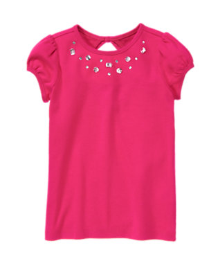 Island Pink Gem Tee by Gymboree