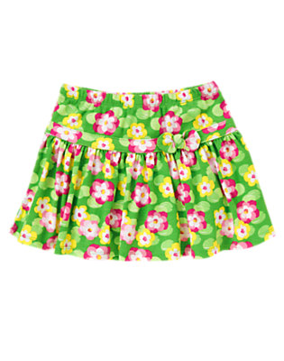 Girls Pond Green Lily Water Lily Skort by Gymboree