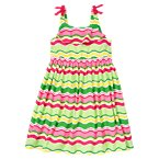 Bow Wavy Stripe Dress