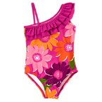 Safari Flower Ruffle One-Piece Swimsuit