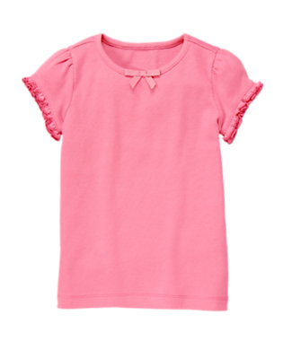 Lily Pink Ruffle Sleeve Tee by Gymboree