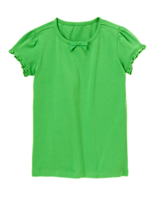 Pond Green Ruffle Sleeve Tee by Gymboree