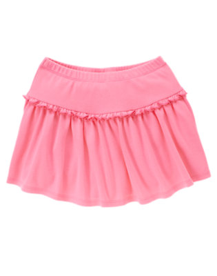 Girls Lily Pink Ruffle Skort by Gymboree
