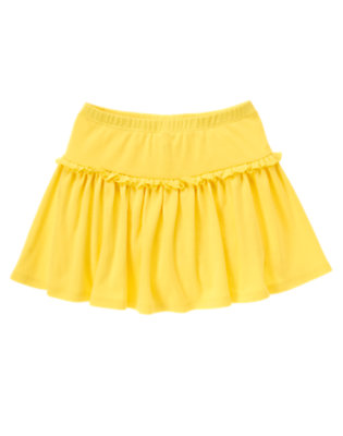 Girls Sunshine Yellow Ruffle Skort by Gymboree