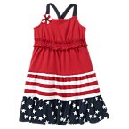 All-American Mixed Print Dress