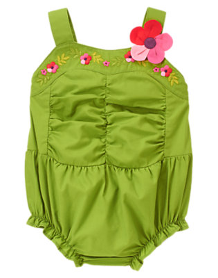 Turtle Green Plumeria Blossom Bubble by Gymboree