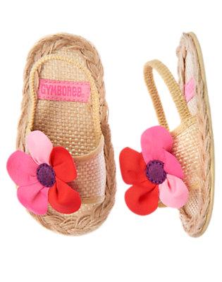 Baby Tan Plumeria Espadrille Crib Sandal by Gymboree
