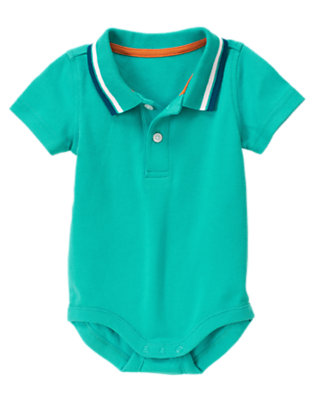 Seaside Blue Polo Bodysuit by Gymboree