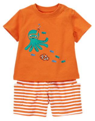 Starfish Orange Snorkel Octopus Two-Piece Set by Gymboree