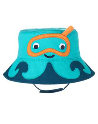 Seaside Blue Snorkel Octopus Bucket Hat by Gymboree