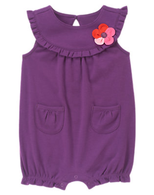 Deep Violet Plumeria Blossom One-Piece by Gymboree
