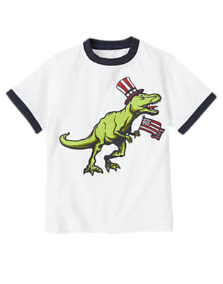 White American Flag T-Rex Tee by Gymboree