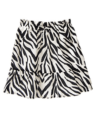 Girls Ivory Zebra Zebra Skirt by Gymboree