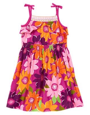 Girls Pink Safari Flower Safari Flower Dress by Gymboree