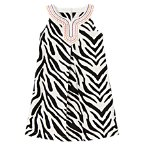 Embroidered Zebra Dress