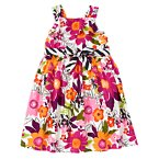 Safari Flower Belted Dress