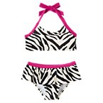 Zebra Two-Piece Swimsuit
