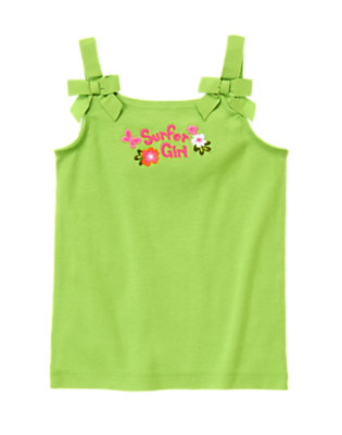 Parrot Green Bow Strap Surfer Girl Tank by Gymboree