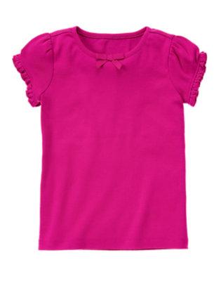 Dahlia Pink Ruffle Sleeve Tee by Gymboree