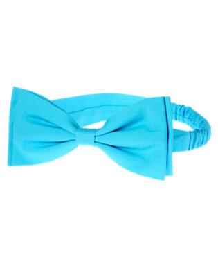 Baby Turquoise Blue Bow Fruffle by Gymboree