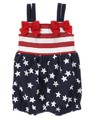 Summer Navy All-American Bubble One-Piece by Gymboree