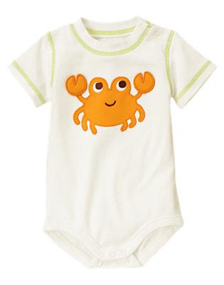 White Crab Bodysuit by Gymboree