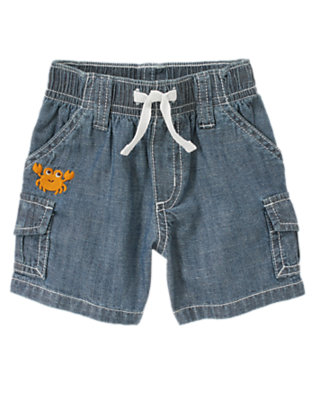 Baby Chambray Crab Chambray Cargo Short by Gymboree