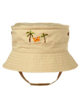 Khaki Crab Plaid Hat by Gymboree