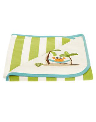 White Crab Blanket by Gymboree