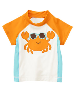 Baby Crab Orange Crab Rash Guard by Gymboree