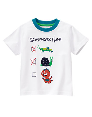 White Scavenger Hunt Bugs Tee by Gymboree