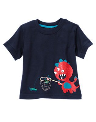 True Navy Monster and Bugs Tee by Gymboree